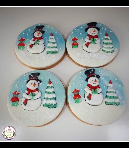 Cookies - Sugar Cookies - Snowmen 05