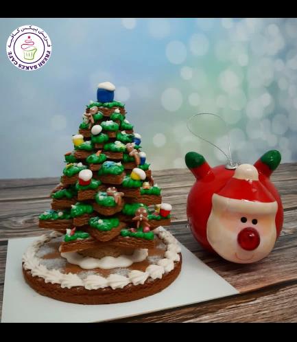 Cookies - Gingerbread Cookies - Christmas Tree - 3D - Big