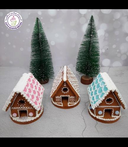 Cookies - Gingerbread Cookies - House - 3D 01a