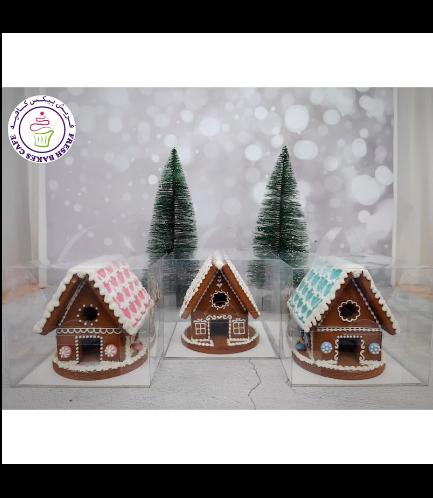 Cookies - Gingerbread Cookies - House - 3D 01b
