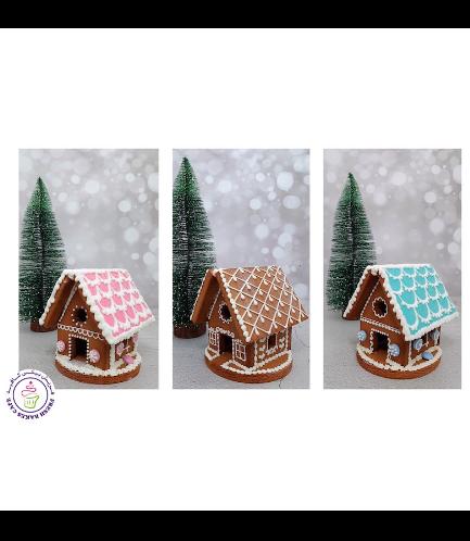 Cookies - Gingerbread Cookies - House - 3D 01c