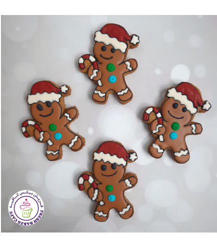 Cookies - Gingerbread Man Cookies - Candy Cane