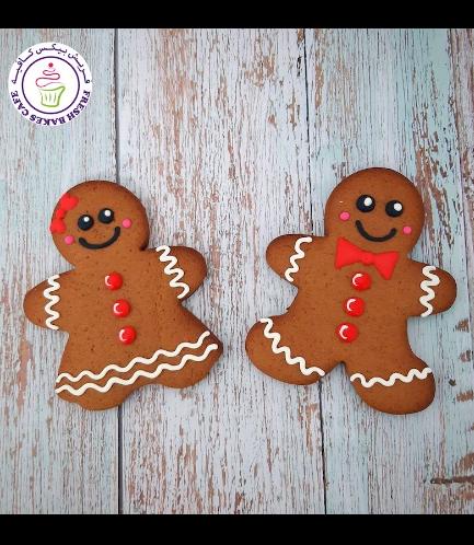 Cookies - Gingerbread Man Cookies - Boy & Girl - Size - Medium