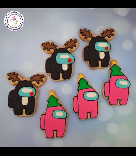 Among Us Themed Cookies - Christmas 01