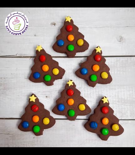 Cookies - Sugar Cookies - Christmas Trees - Chocolate