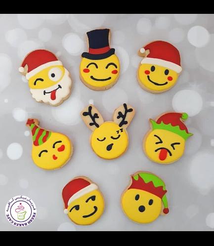 Emoji Themed Cookies - Christmas