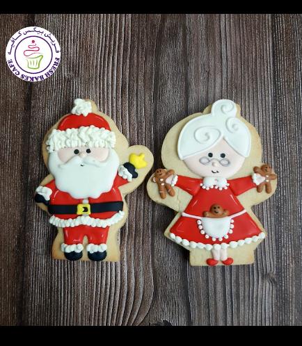 Cookies - Sugar Cookies - Santa & Mrs Claus 01