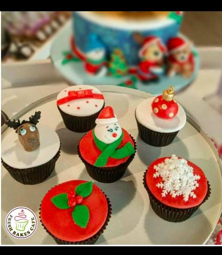Christmas Themed Cupcakes 7