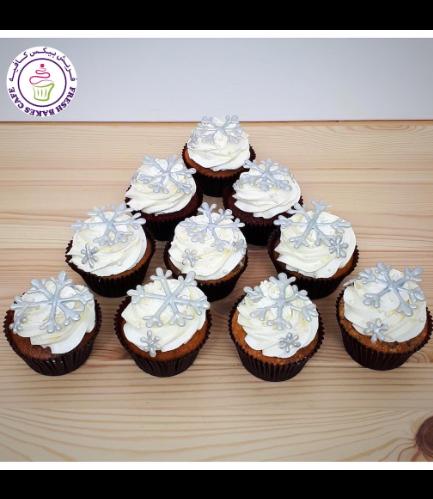 Cupcakes - Snowflakes 02