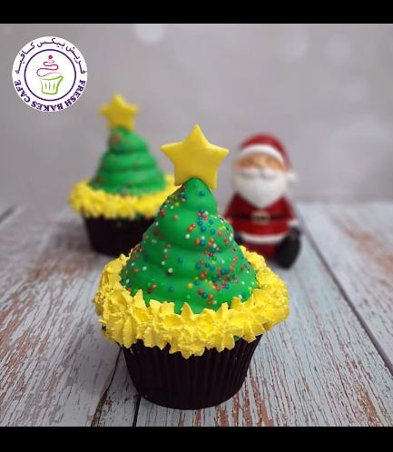 Cupcakes - Christmas Tree - White Cloud