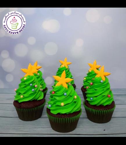 Cupcakes - Christmas Trees - Cream 02