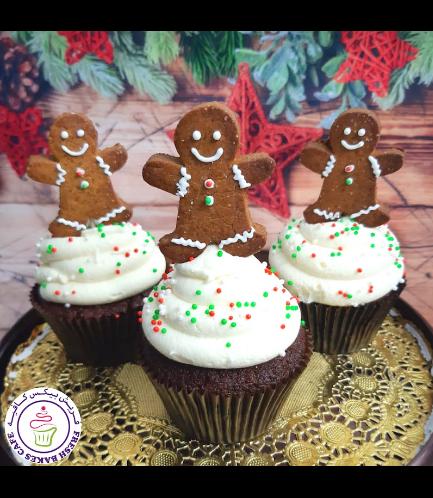 Cupcakes - Gingerbread Man Cookies