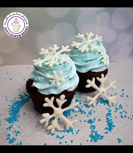 Cupcakes - Snowflakes 01