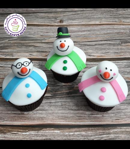 Cupcakes - Snowmen