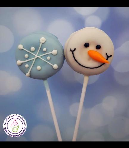 Donut Pops - Snowflakes & Snowman