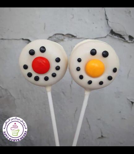 Christmas Themed Donut Pops - Snowmen 01