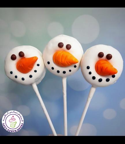 Donut Pops - Snowmen 02
