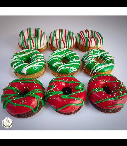 Christmas Themed Donuts - Christmas Colors 01