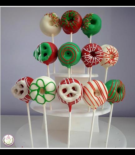 Christmas Themed Donut Pops 01