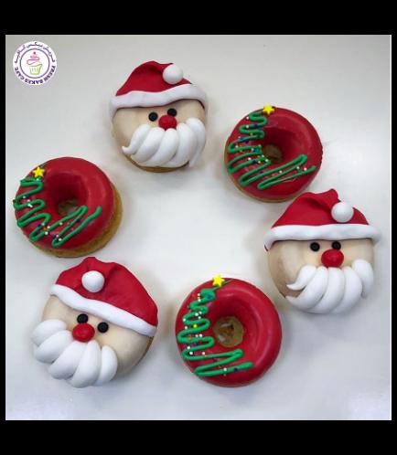 Christmas Themed Donuts - Christmas Tree & Santa