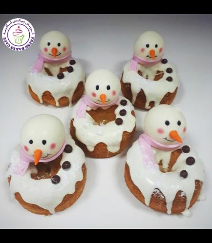 Christmas Themed Donuts - Snowmen 02