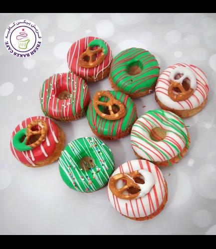 Christmas Themed Donuts - Christmas Colors
