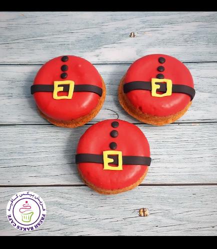 Christmas Themed Donuts - Santa 01