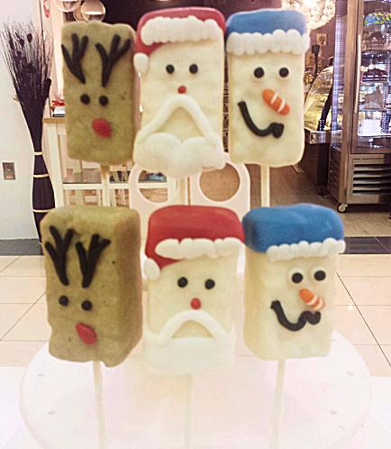 Christmas Themed Krispie Treats - Reindeer, Santa, & Snowman 02