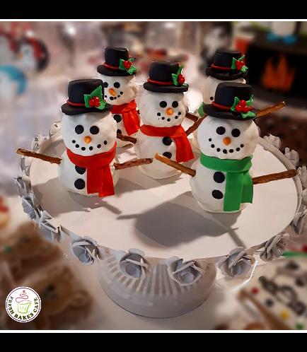 Christmas Themed Krispie Treats - Snowmen 01