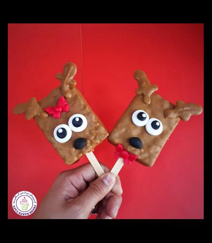 Christmas Themed Krispie Treats - Reindeers 01