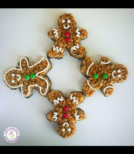 Christmas Themed Krispie Treats - Gingerbread Men