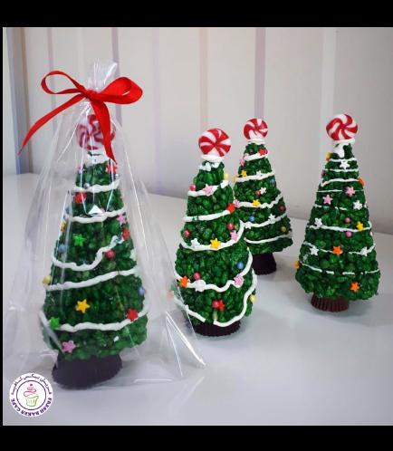 Christmas Themed Krispie Treats - Christmas Trees 03