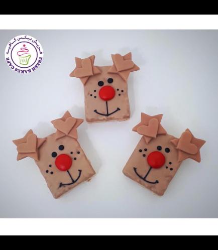 Christmas Themed Krispie Treats - Reindeers 02