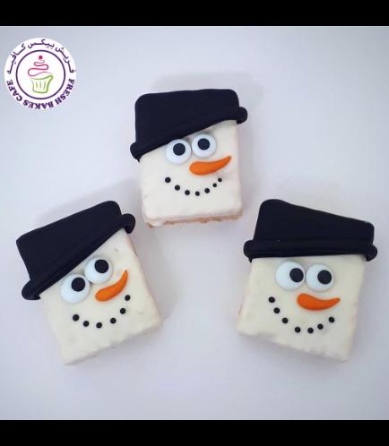Christmas Themed Krispie Treats - Snowmen 02