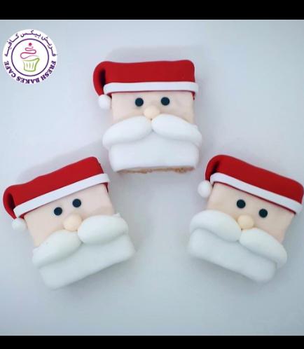 Christmas Themed Krispie Treats - Santa
