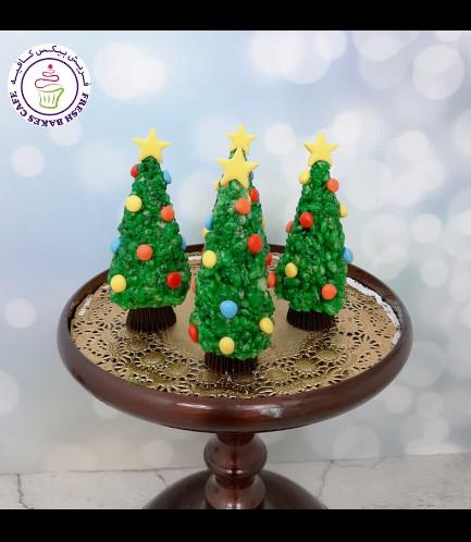 Christmas Themed Krispie Treats - Christmas Trees 02