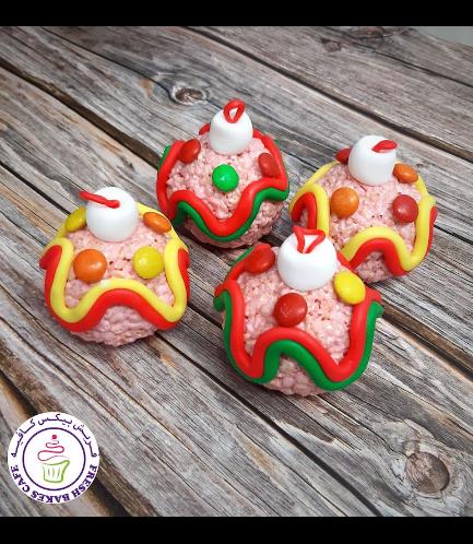 Christmas Themed Krispie Treats - Ornaments