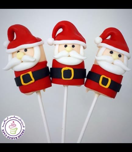 Marshmallow Pops - Santa
