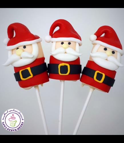 Christmas Themed Marshmallow Pops - Santa