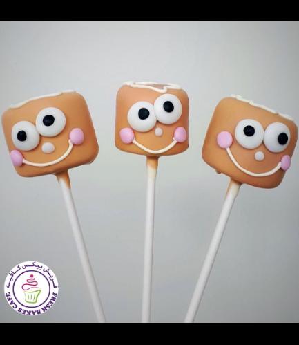 Christmas Themed Marshmallow Pops - Gingerbread Men