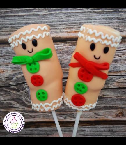 Christmas Themed Marshmallow Pops - Gingerbread Men 02