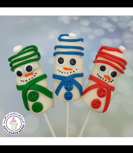 Marshmallow Pops - Snowmen 04