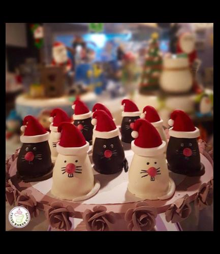 Mice Themed Cake Pops w/o Sticks - Christmas