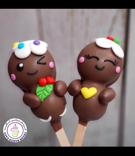 Christmas/Winter Themed Popsicakes - Gingerbread Men 02