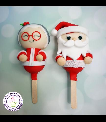 Christmas/Winter Themed Popsicakes - Ms Claus & Santa 02