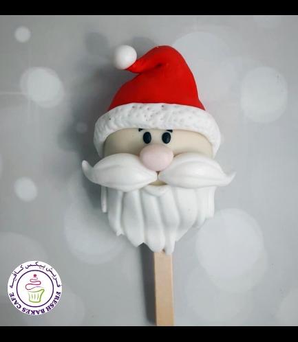 Christmas/Winter Themed Popsicakes - Santa