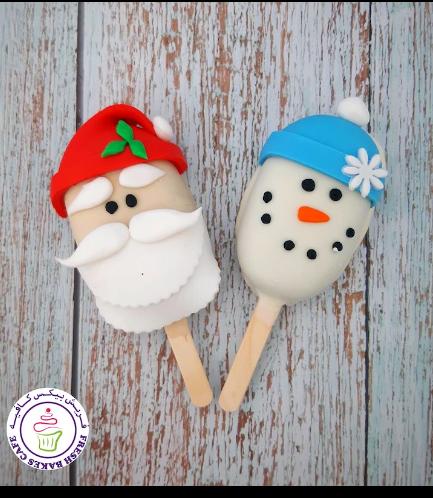 Popsicakes - Santa & Snowman