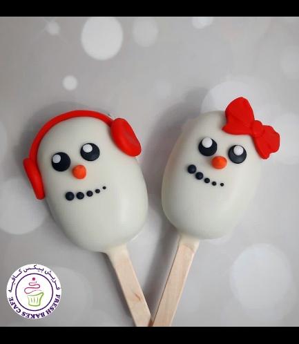 Christmas/Winter Themed Popsicakes - Snowmen 01