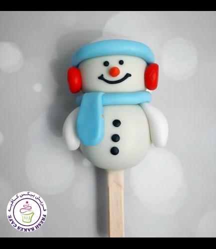 Christmas/Winter Themed Popsicakes - Snowmen 03
