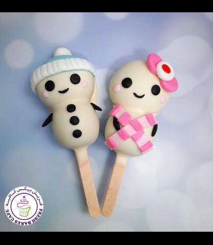 Christmas/Winter Themed Popsicakes - Snowmen 05
